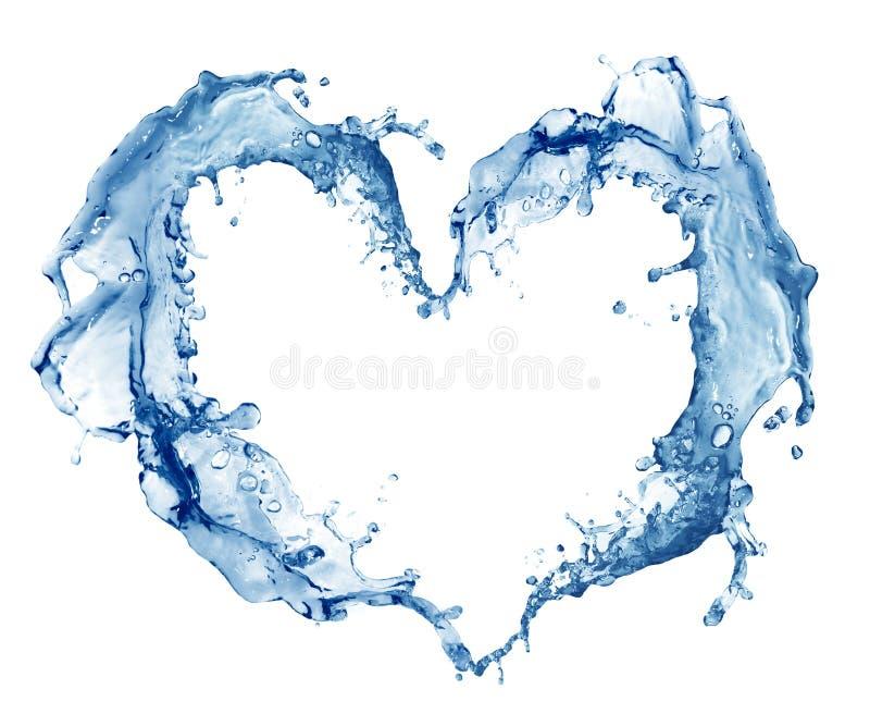 Coração da água imagem de stock royalty free