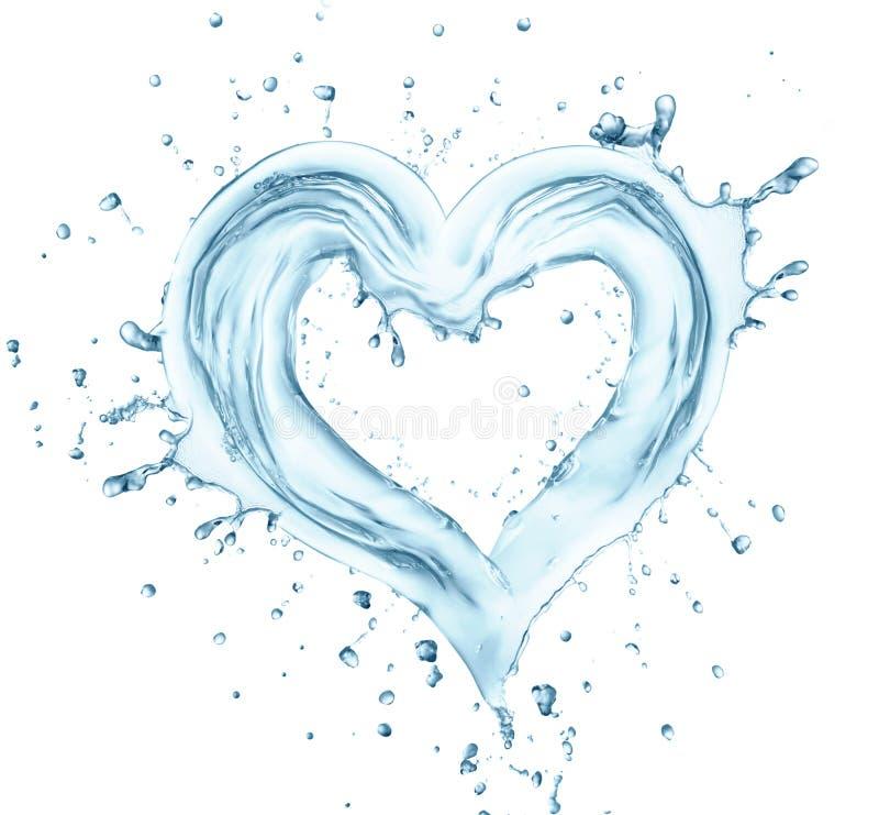 Coração da água imagem de stock