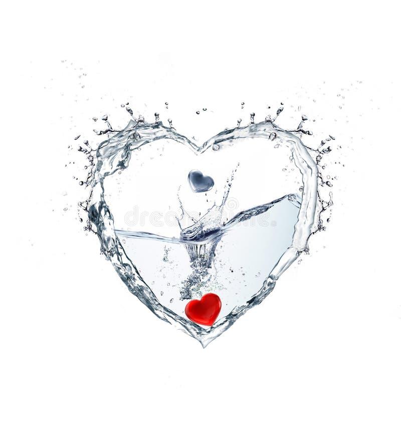 Coração da água fotos de stock