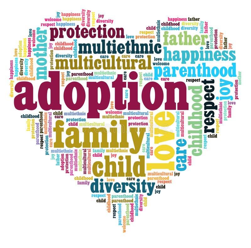 Coração da adopção ilustração stock