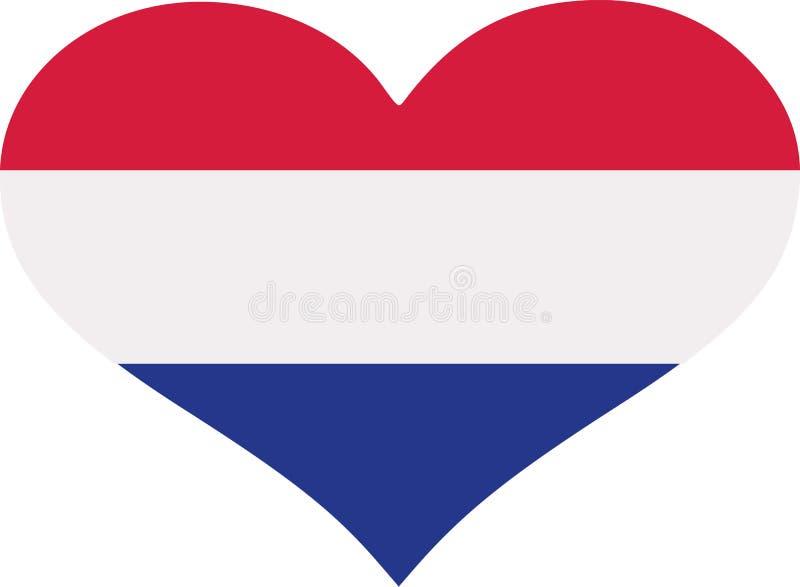 Coração da bandeira da Croácia ilustração royalty free