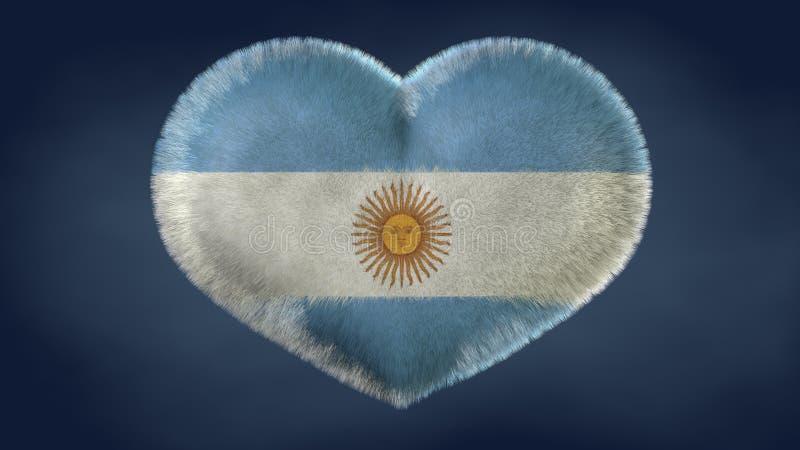 Coração da bandeira de Argentina ilustração do vetor