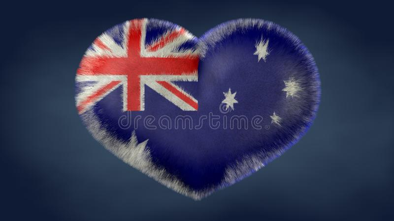 Coração da bandeira de Austrália ilustração royalty free