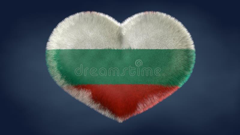 Coração da bandeira de Bulgária ilustração do vetor