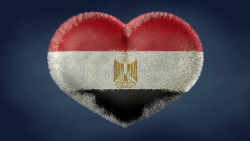 Coração da bandeira de Egito ilustração stock
