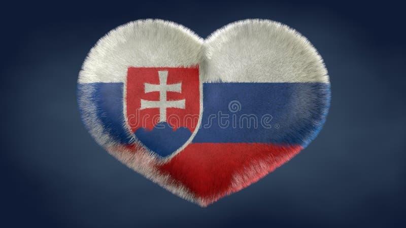 Coração da bandeira de Eslováquia ilustração do vetor