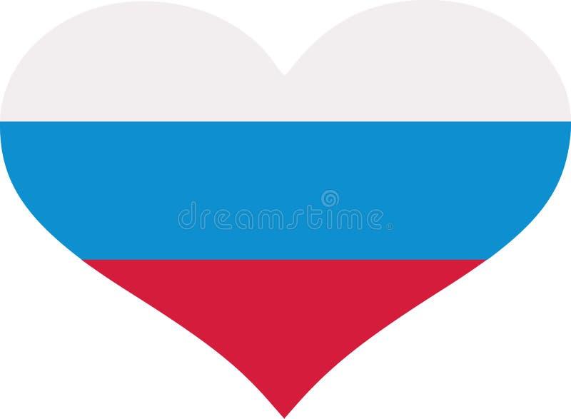Coração da bandeira de Eslovênia ilustração do vetor