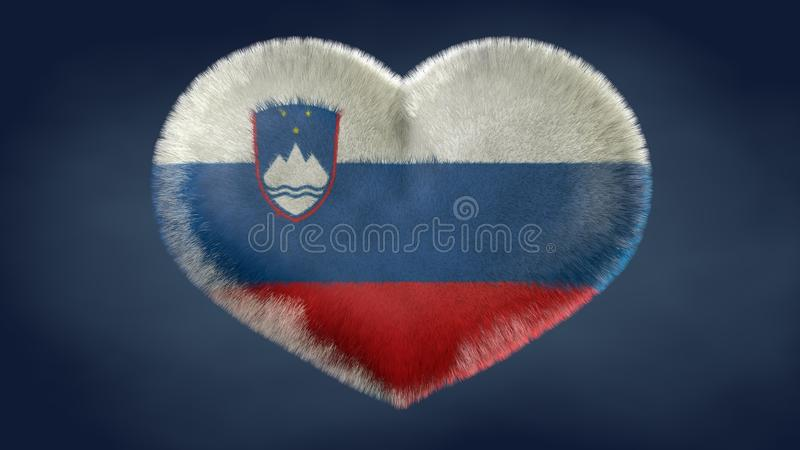 Coração da bandeira de Eslovênia ilustração stock