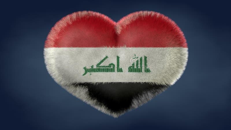 Coração da bandeira de Iraque ilustração stock