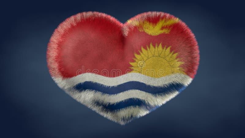 Coração da bandeira de Kiribati ilustração royalty free