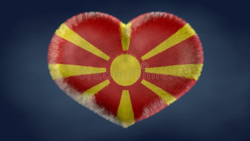 Coração da bandeira de Macedônia ilustração do vetor