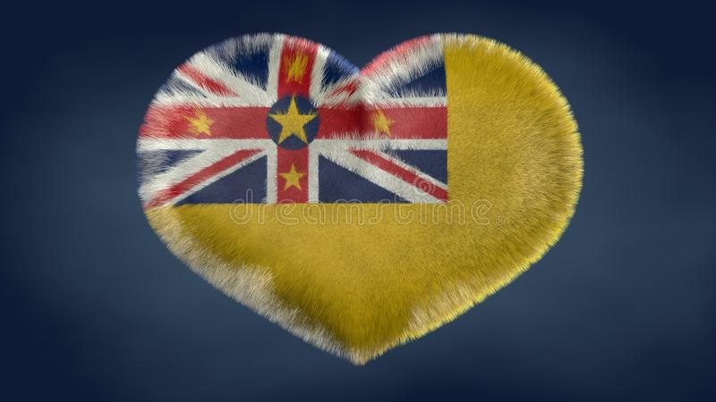 Coração da bandeira de Niue ilustração stock