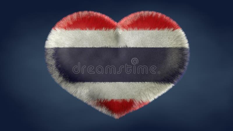Coração da bandeira de Tailândia ilustração stock
