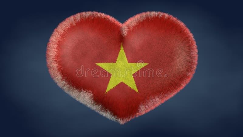 Coração da bandeira de Vietname ilustração do vetor