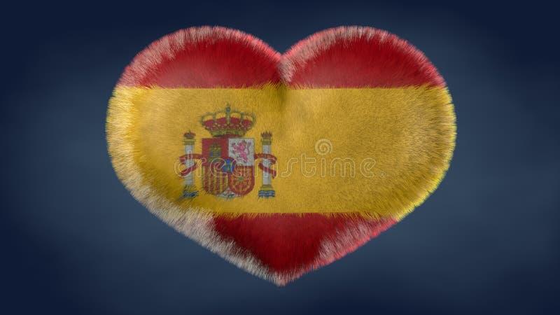 Coração da bandeira da Espanha ilustração stock