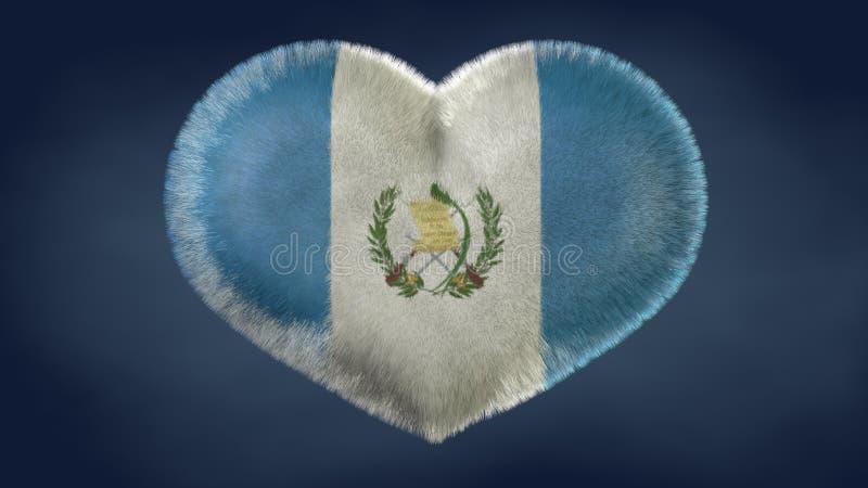 Coração da bandeira da Guatemala ilustração do vetor