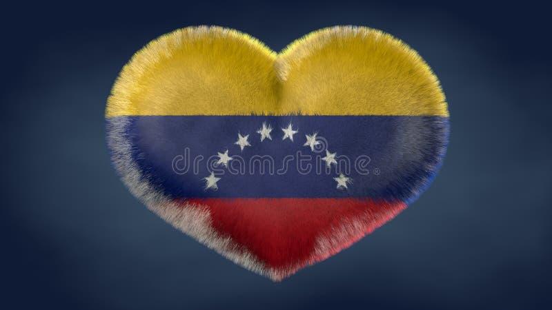 Coração da bandeira da Venezuela ilustração do vetor