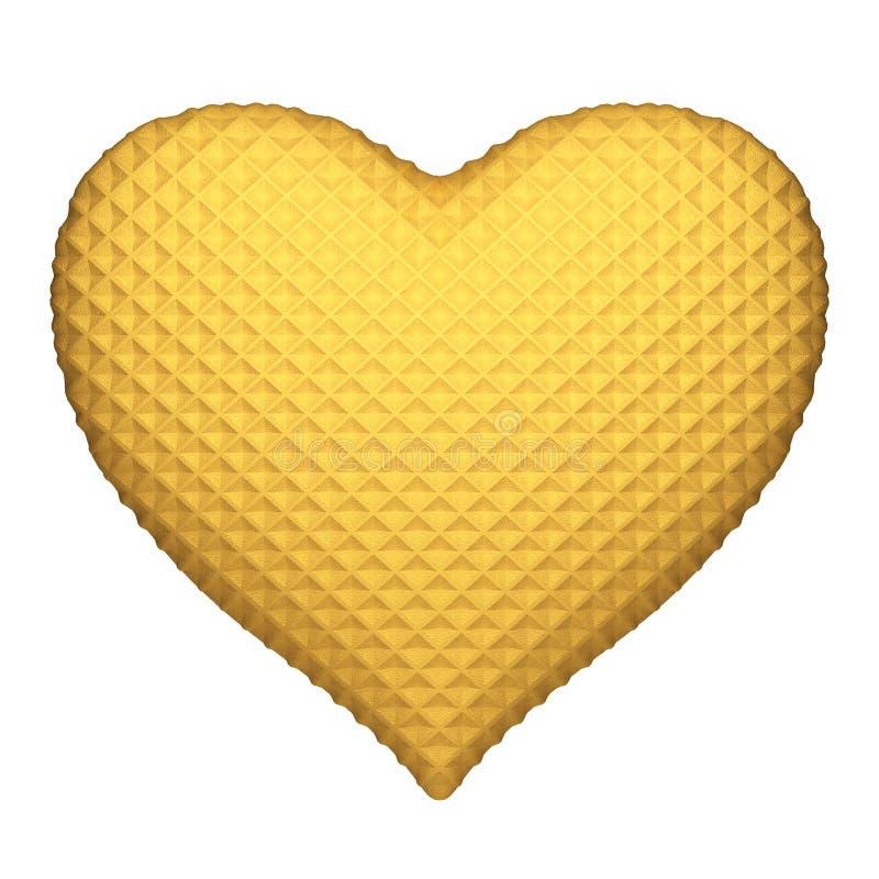 Coração da bolacha. Isolado no branco fotografia de stock royalty free