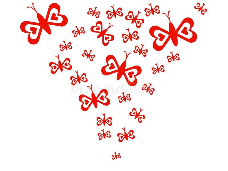 Coração da borboleta ilustração stock