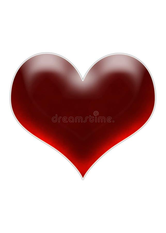 Coração da cereja imagens de stock