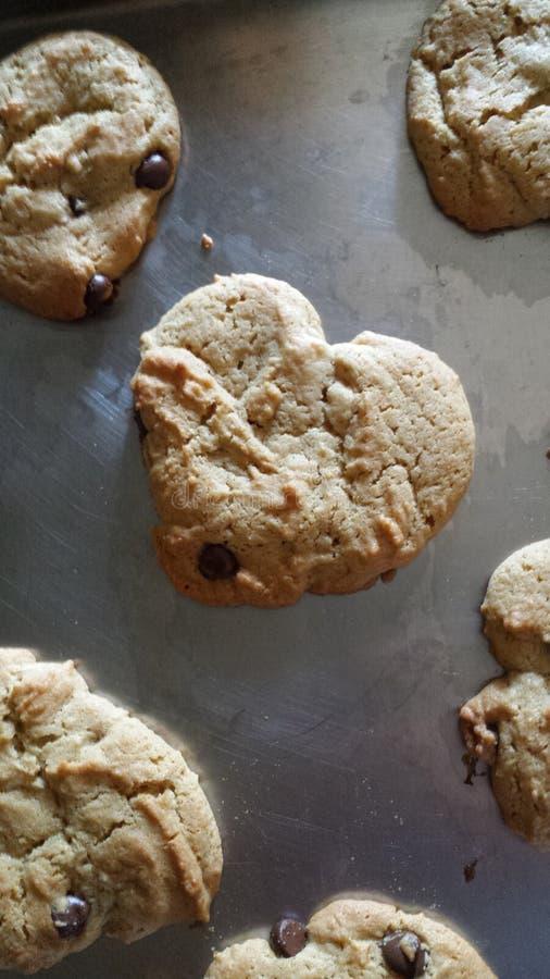 Coração da cookie imagens de stock