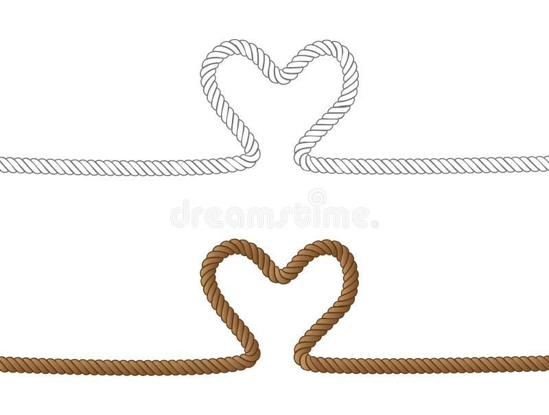 Coração da corda ilustração do vetor