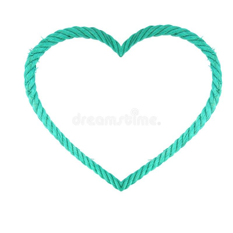 Coração da corda imagem de stock royalty free