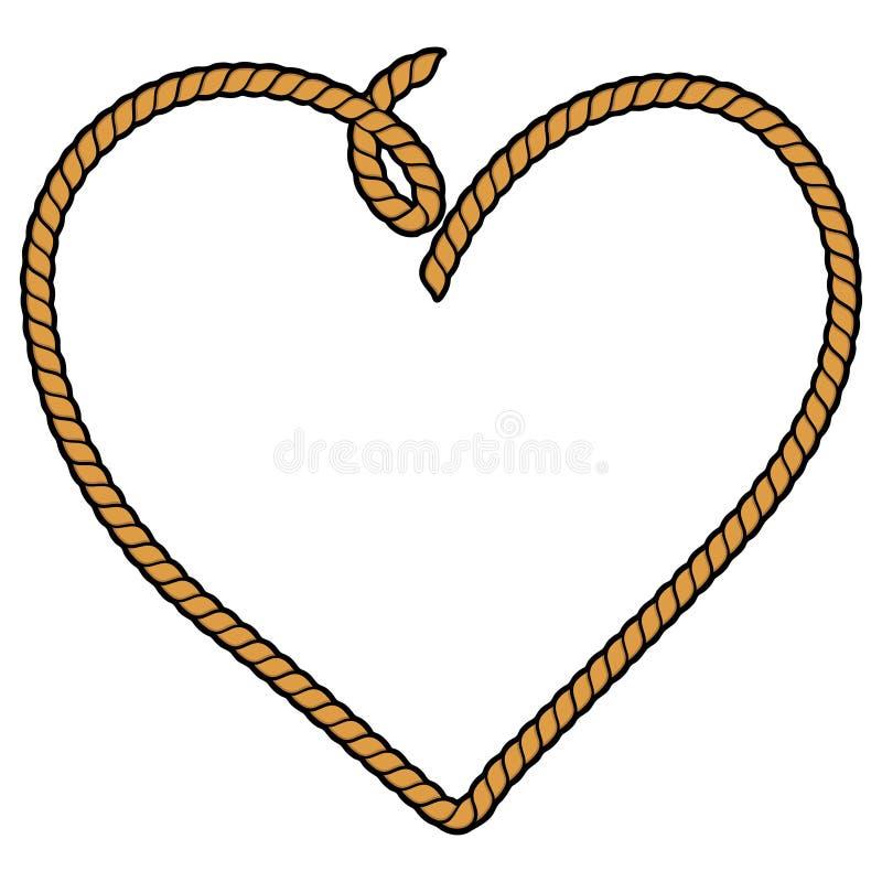 Coração da corda ilustração royalty free