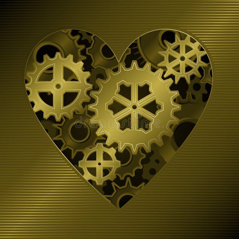 Coração Da Engrenagem Imagem de Stock