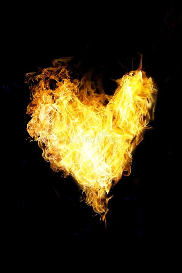 Coração da flama fotografia de stock royalty free