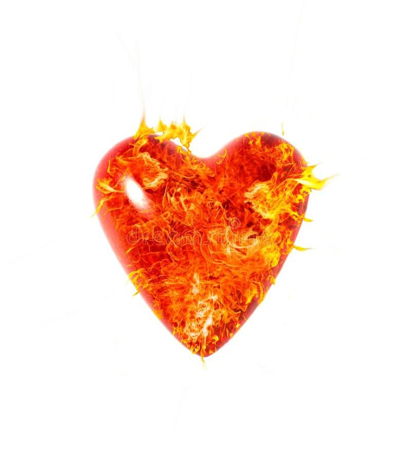 Coração da flama fotografia de stock