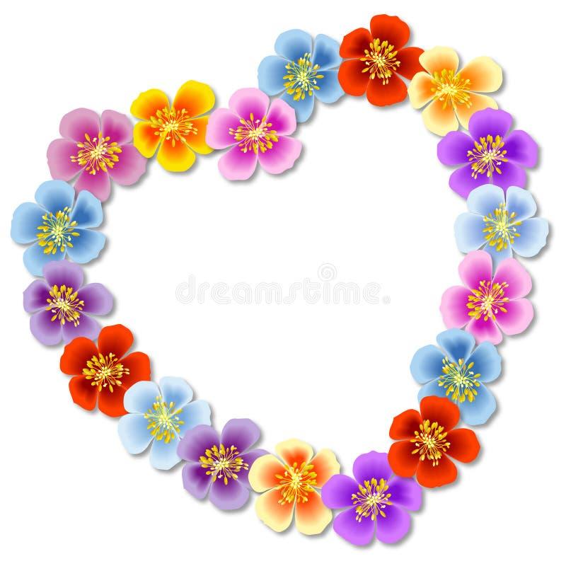 Coração da flor ilustração royalty free