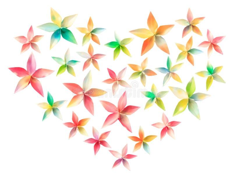 Coração da flor imagens de stock