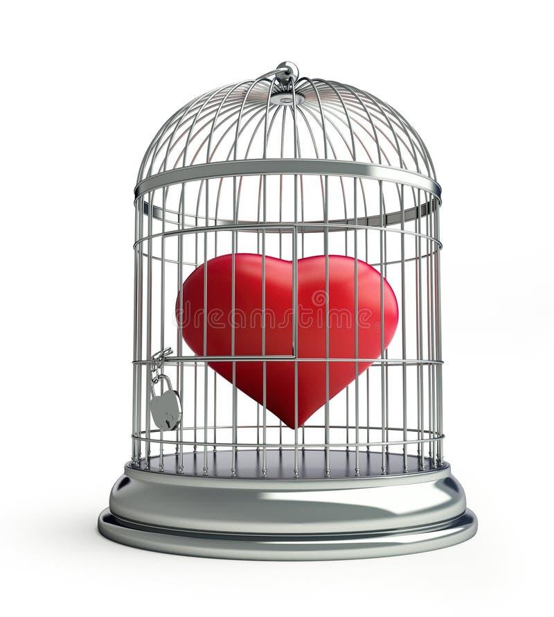 Coração da gaiola ilustração do vetor