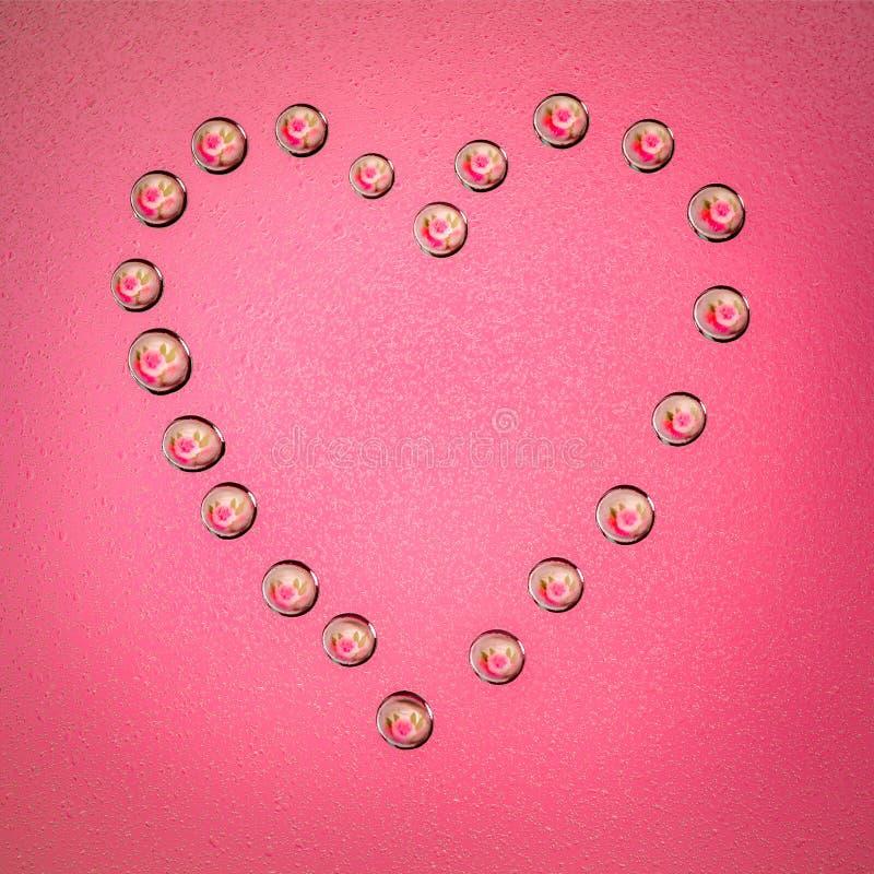 Coração da gota de água imagens de stock