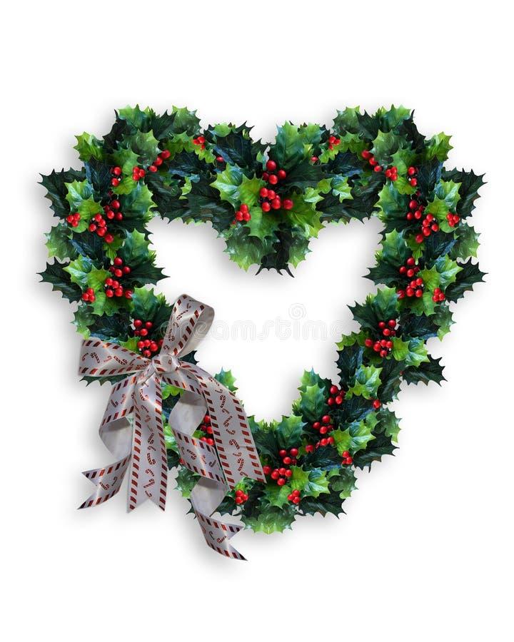 Coração da grinalda do Natal ilustração do vetor