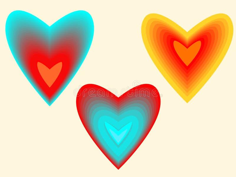 Coração da interpolação imagem de stock royalty free