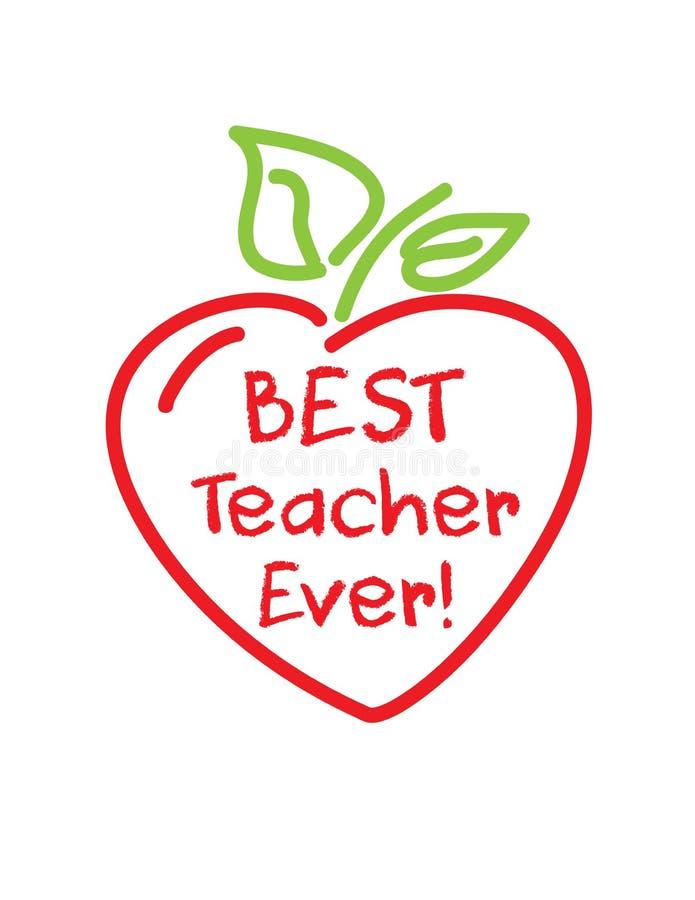 Coração da maçã da semana da apreciação do professor ilustração royalty free