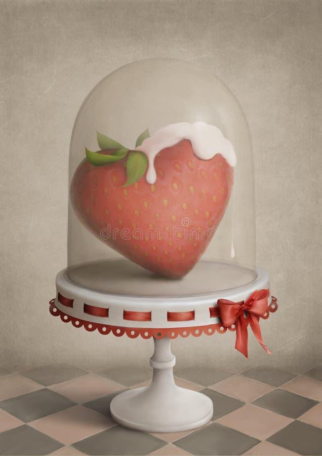 Coração da morango ilustração royalty free