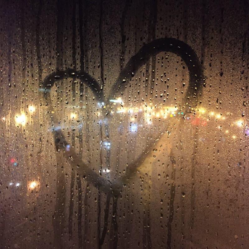 Coração da noite fotografia de stock