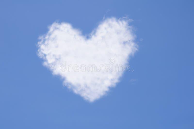 Coração da nuvem imagem de stock royalty free