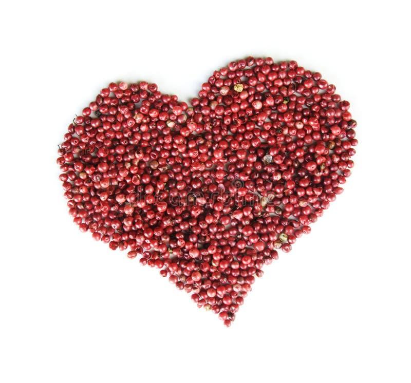 Coração da pimenta vermelha imagens de stock