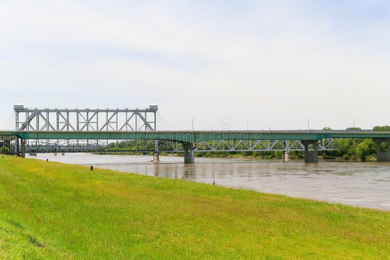 Coração da ponte de América e da ponte de ASB fotografia de stock royalty free