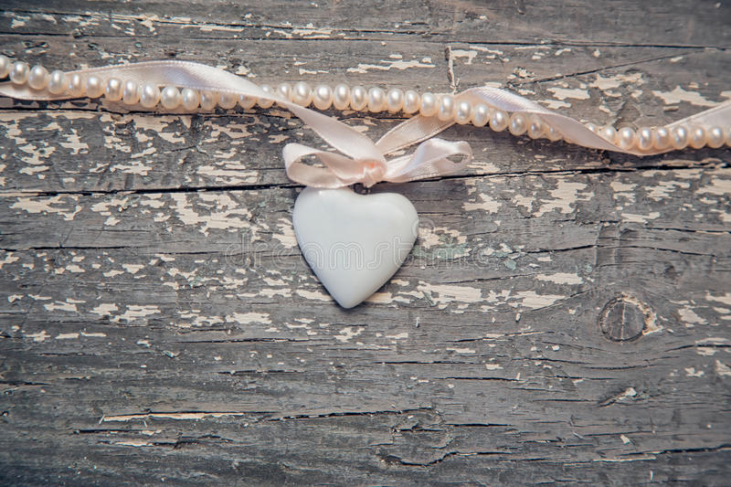 Coração da porcelana foto de stock