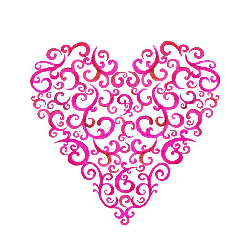 Coração da silhueta do laço ilustração stock