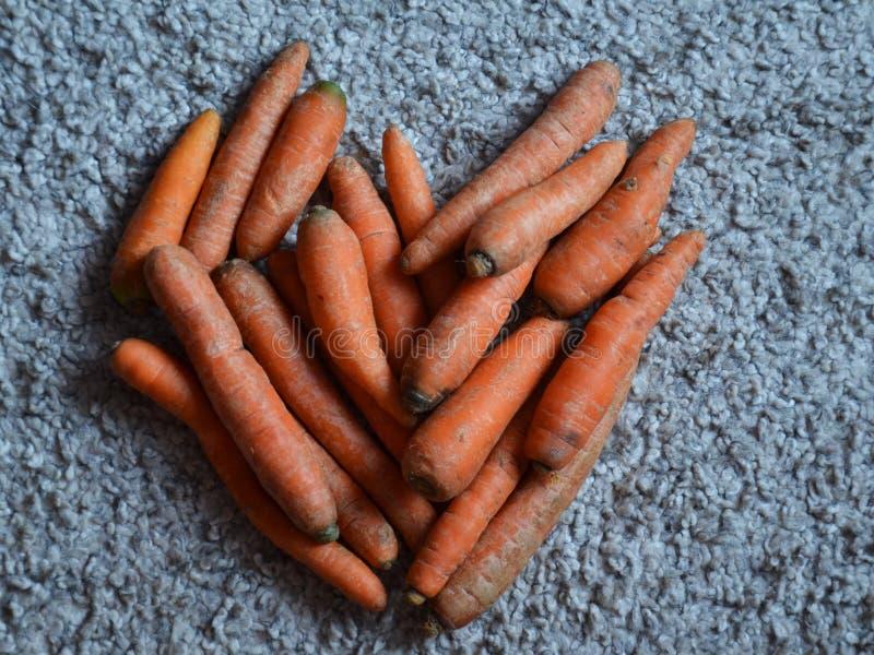 Coração das cenouras imagem de stock