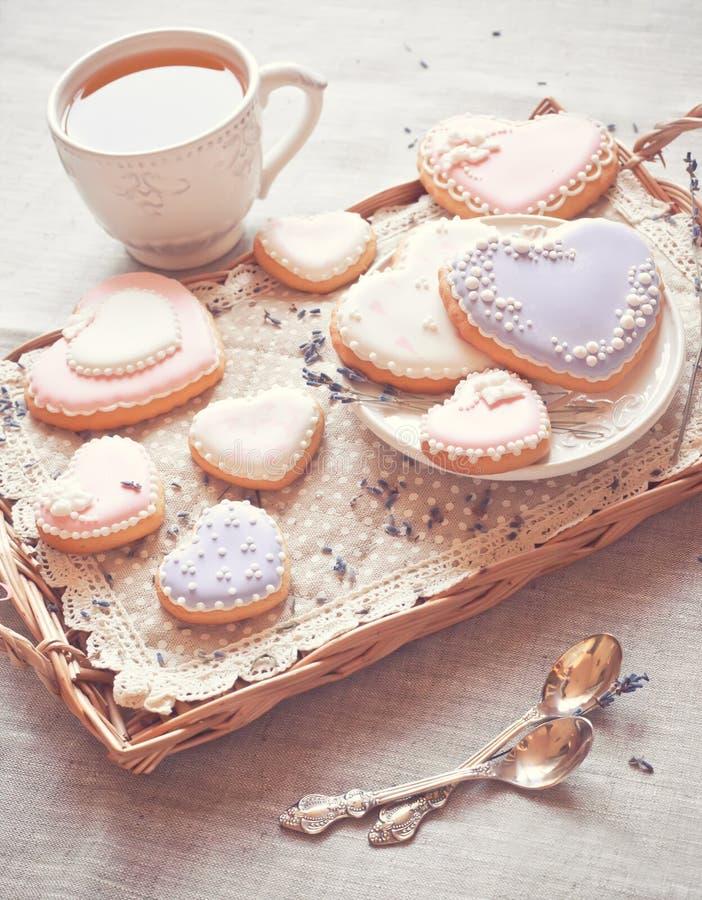 Coração das cookies foto de stock