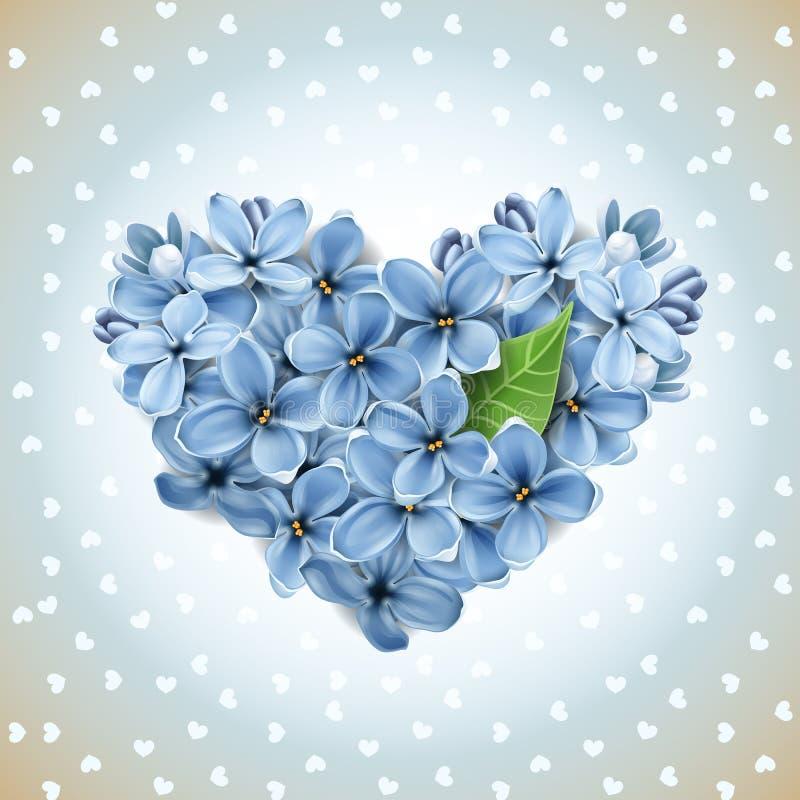 Coração das flores de um lilac ilustração royalty free