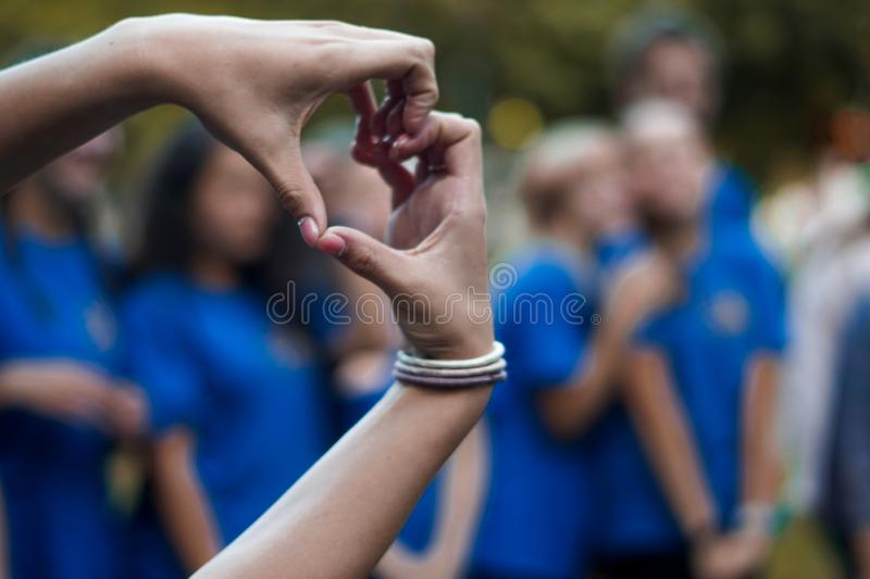 Coração das mãos foto de stock royalty free