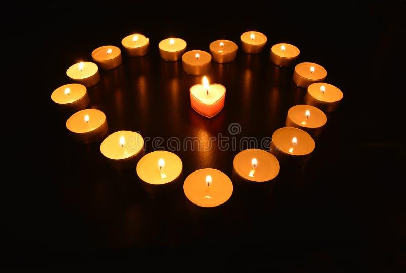 Coração das velas foto de stock